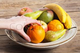 Billede af 'æble, tage, pæretræ'