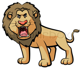 Lion Cartoon Roaring