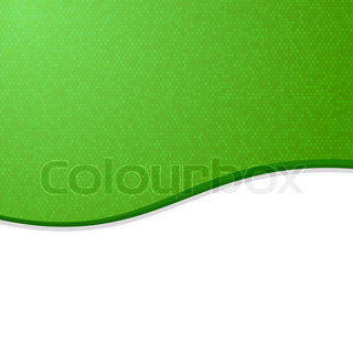 Green and White Waves Blank Abstract Background.