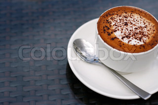 Cappuccino coffee in cup