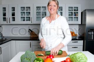 Kvinde i køkken