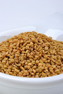 Organic fenugreek seeds delicious with boiled potato | Stock Photo ...