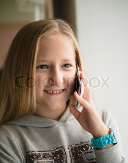 pretty girl talking on the phone