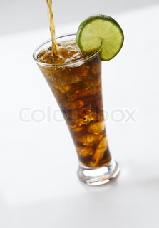 Beverage - cold soda on a glass