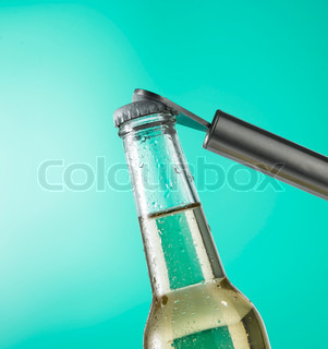 Beverage - bottled drink and an opener