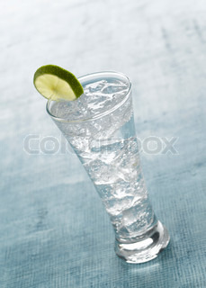 Beverage  - fizzy cold drink on a glass