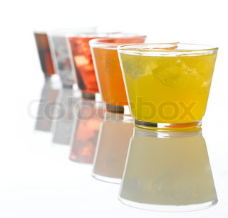 Beverage - soda and cola on a glass