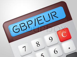 Gbp Euro Calculator Represents Foreign Exchange And Calculation