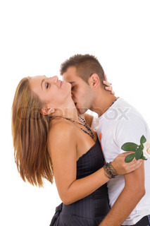 sexy couple in love with rose