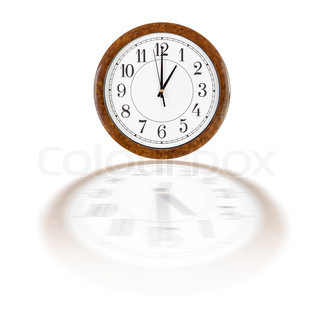 Clock face showing one aclock