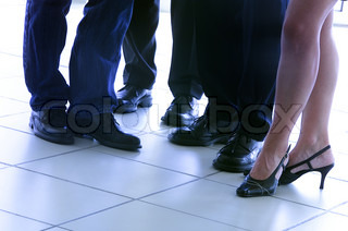 Image of 'feet, leg, business meeting'
