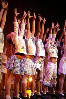 ballet spectacle with dancers on stage