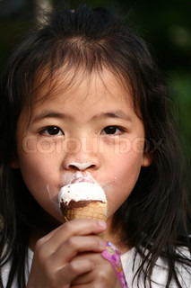 close up of child eating