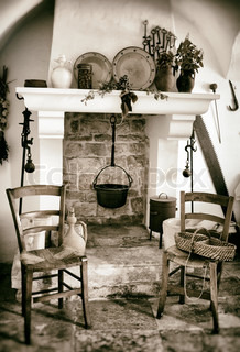 Old fireplace used for cooking