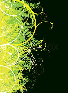 Vektor af 'kunstnerisk, blomster, indretning'