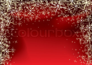 red and black christmas background with yellow star burst and snowflakes