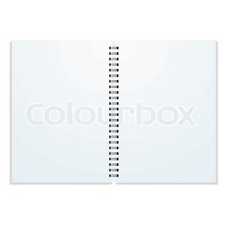 Blank double paged ring binder with drop shadow and copy space