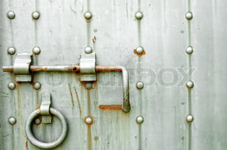 Ancient metal door background