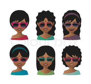 Female indian avatar wearing sunglasses