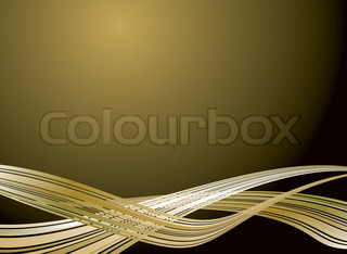 Illustrated golden background with flowing gold strokes disappearing into perspective