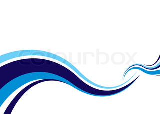 Abstract modern ocean wave ideal surf image with space for text