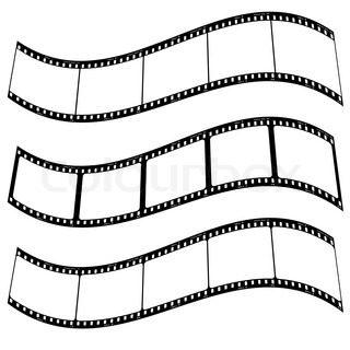 Three blank film strips with room to addd your own copy twisted
