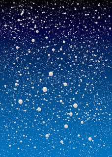 christmas snow flake sky background with blue gradient