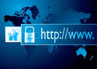 Vektor af 'online, downloade, virksomheder'