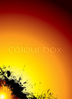 red hot sun explosion background with red and yellow hues