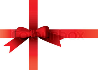 Illustrated red ribbon with room to add your own copy
