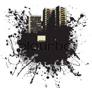 Grunge ink splat business background with copy space