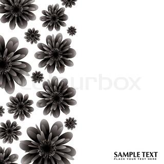 Vektor af 'blomst, blomster, rammer'