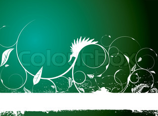 Natural floral banner in different shades of green with copy space