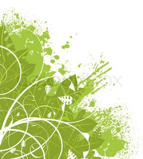abstrakt grün Blumenmuster ideal als ein Hintergrund-Ecke