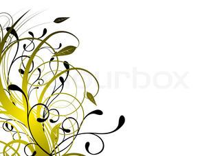 Vektor af 'blomst, guld, naturlig'