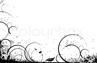 Black and white floral nature background ideal as a background