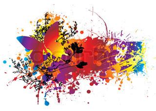 bunte Tinte Splat natürlichen Hintergrund mit Kopie hinzufügen