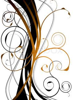 Vektor af 'blomst, guld, kurve'