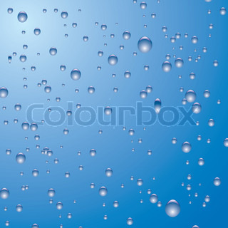 Illustrated blue and white bubble background ideal as a ...