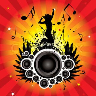 musikalisch inspirierte Bild mit Hintergrund sowie Frauen
