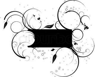 Black and white floral design with room for your own text