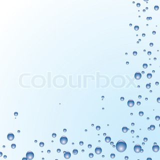 Illustrated blue and white bubble background ideal as a desktop