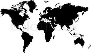 isoliert schwarz / weiß-Karte des Wortes, die bearbeitet werden kann