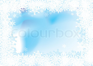 Christmas background with a snow flake border with room for copy