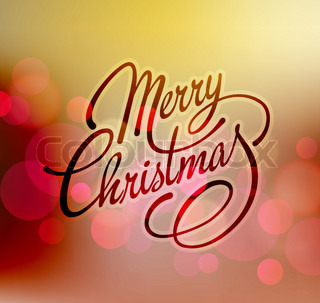 Merry Christmas Vector Lettering. Retro design