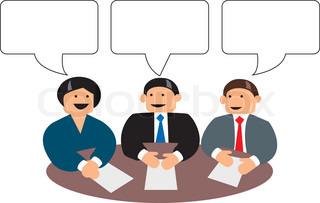 Vector of 'cartoon, negotiation, people'