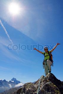 Billede af 'bjergtop, jubel, bjerg'