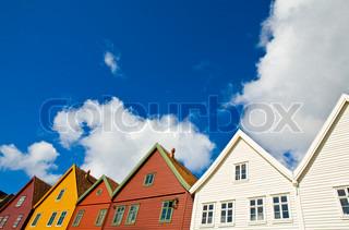 Billede af 'lejlighed, tage, skyer'