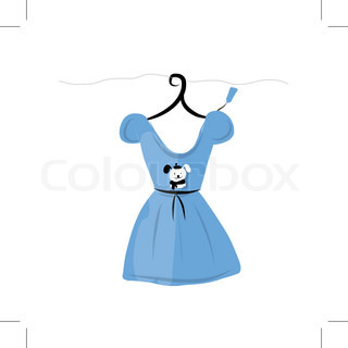 Dress on hangers with funny bear design