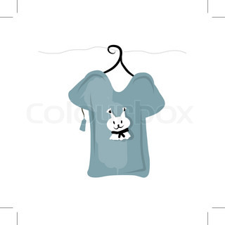 Top on hangers with funny squirrel design